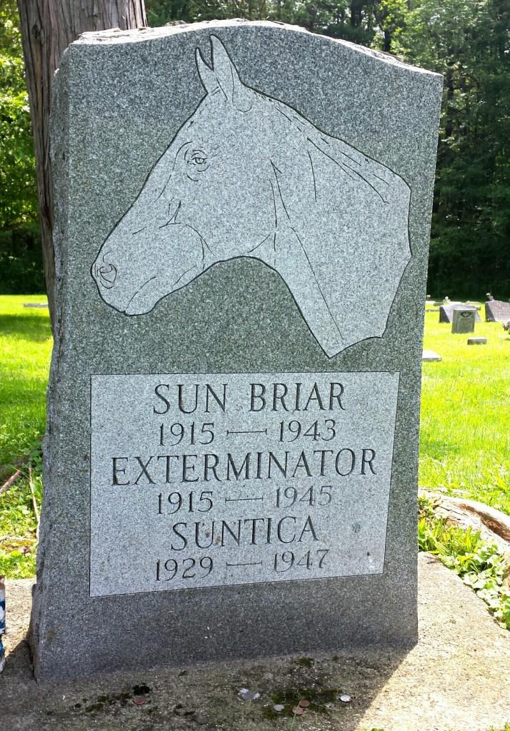 Old Bones' grave marker