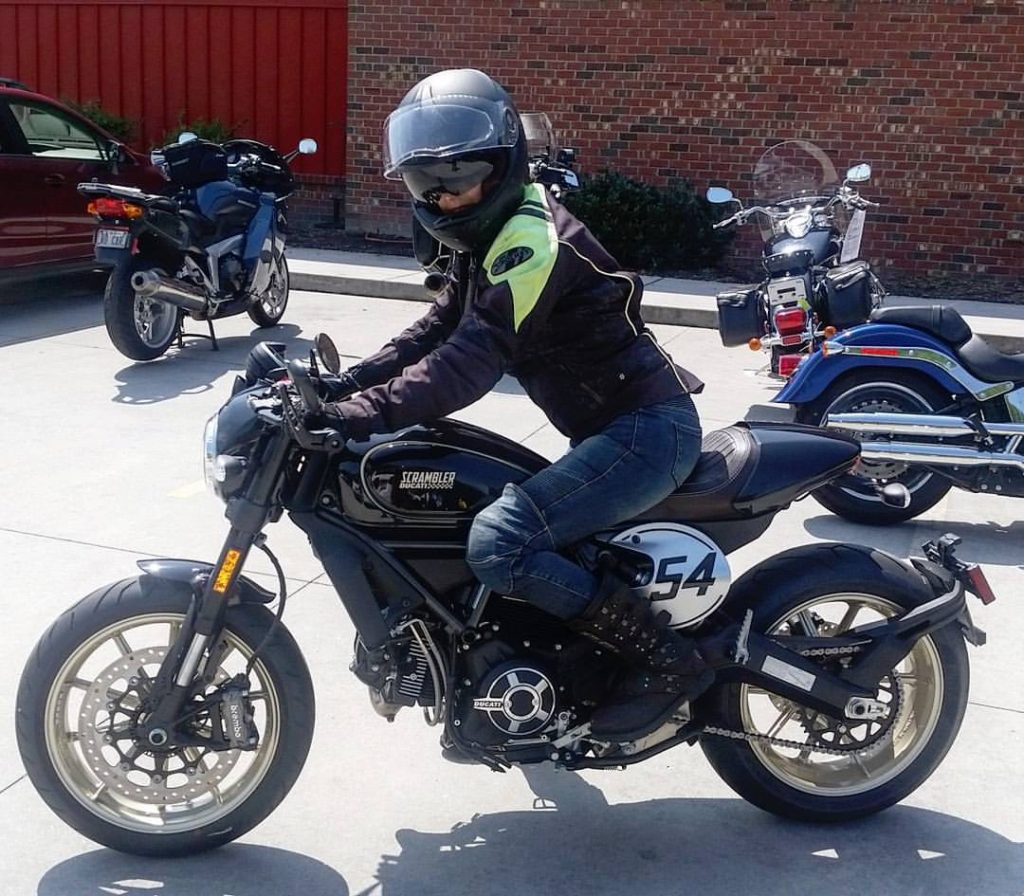 Colleen Ann Guest Scrambler Ducati Cafe Racer